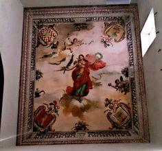 Casa Santonja o Palau dels Marau,Olleria,detall mural