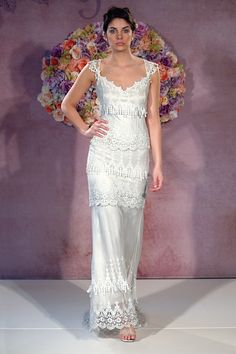 Here's the full length view of my Claire Pettibone 'Kristene' wedding gown : )