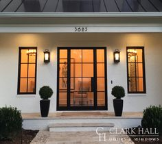 Photo from Modern Doors collection by Clark Hall Doors Double Doors Exterior, Wood Exterior Door, Villa, Colonial Mansion, Modern Colonial, Windows And Doors, Front Doors, Iron Front Door, Garage Doors