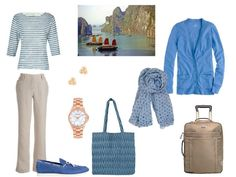 Dressing modestly in a hot climate: a travel capsule wardrobe in blue and tan