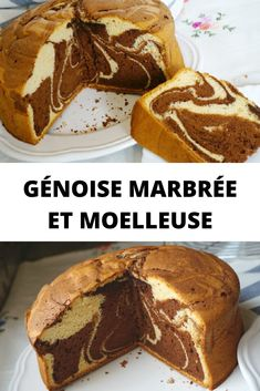 Marbled and fluffy sponge cake - Hello gourmet team This marbled cake is the cake that I have been making for years and that the who - Italian Cookie Recipes, Easy Cookie Recipes, Easy Desserts, Healthy Peanut Butter Cookies, Peanut Butter Cookie Recipe, Banana Dessert, Donuts, Food Cakes, Sponge Cake