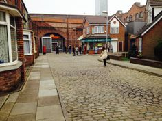 The Famous Cobbles- many a celebrity have taken a walk down these.... #corrie #coronationstreet #itv #set #settour
