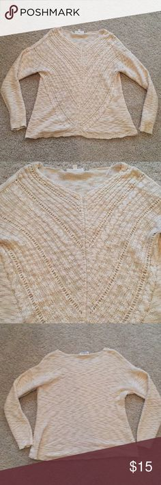 Cream sweater cute off white/cream colored sweater cloud chaser Sweaters