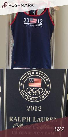 9f809a825 Ralph Lauren 2012 US Olympics Top New w Tags Pima Cotton Elastane Red