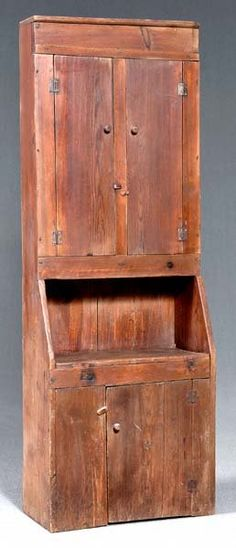 primitive country decorating home Primitive Cabinets, Old Cabinets, Primitive Furniture, Primitive Antiques, Antique Furniture, Home Furniture, Primitive Country, Rustic Cabinets, Primitive Decor