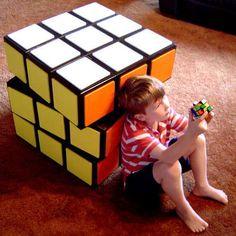 Fun Storage Solution: A Really Big Rubik's Cube