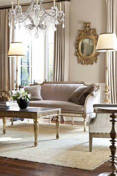 Barock Stil Wohnzimmer In Pastellnuancen