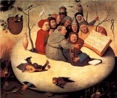 The Concert in the Egg - Hieronymus Bosch Artist: Hieronymus Bosch Start Date: 1475 Completion Style: Northern Renaissance Genre: religious painting Technique: oil Material: panel Hieronymus Bosch, Renaissance Kunst, Renaissance Music, Pieter Bruegel The Elder, Garden Of Earthly Delights, Dutch Painters, Medieval Art, Medieval Music, Fine Art