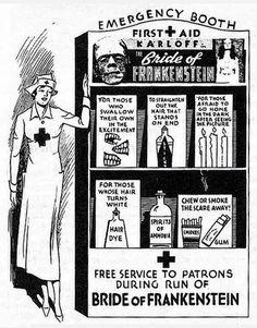"""Vintage Theatre Ad, """"Bride of Frankenstein"""" (1935)"""