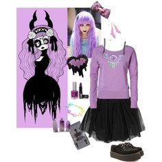 """""""Pastel Goth"""" by monroe285 on Polyvore"""