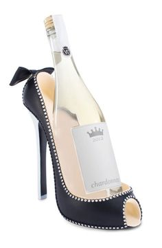 Look at this Groom High Heel Bottle Holder by Happy Hour Unique Belly Rings, Wine Shoes, Wine Caddy, Shoe Holders, Things I Need To Buy, Fabulous Birthday, Woman Wine, Wine Bottle Holders, Platform High Heels