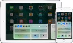 Control Center of iPhone and iPad.