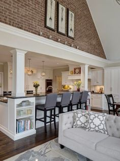 Nice, Brick finish kitchen