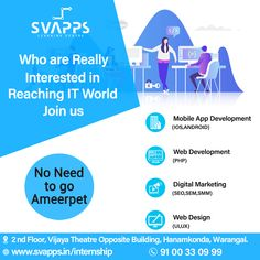 Svapps Software Training Institute gives Training In Real-Time Projects in Warangal. We Specialize in Software Courses in Warangal and also in Hanamkonda Design Jobs, Web Design, Software, Learning Centers, Training Courses, Get The Job, App Development, Learning, Industrial Design