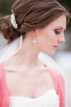 Classic low chignon (Photo by Abby Grace Photography)