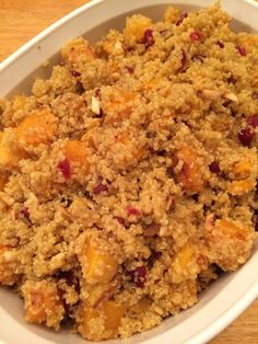 Quinoa Salad with Butternut Squash, Dried Cranberries & Pepitas. Great ...