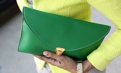 Emerald Dynamite Green Envelope Purse by HighAndWest on Etsy, $34.00