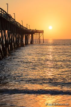 Sunrise on the NC coast at Avalon pier Kill Devil Hills.