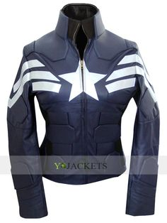 The Winter Soldier Captain America Jacket For Females…
