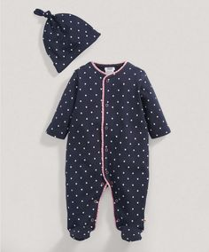 Girls Navy Printed All in One with Hat - All Girls - Mamas & Papas (going home outfit ?)
