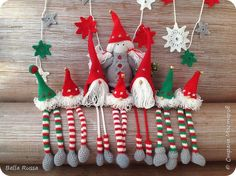 Игрушка Поделка изделие Новый год Рождество Вязание крючком Вязание спицами Шитьё Белоснежка и семь гномов Нитки Пряжа Ткань фото 2