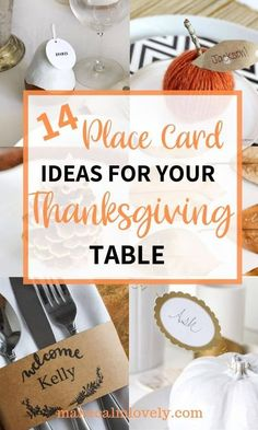 14 Place Card Ideas for your Thanksgiving Table