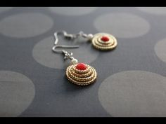 How to make dome shaped spiral earrings - wire jewelry making series