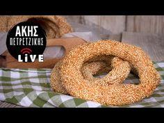 Κουλούρια Θεσσαλονίκης | LIVE | Άκης Πετρετζίκης - YouTube Crash Test, Bagel, Doughnut, Food And Drink, Make It Yourself, Cooking, Desserts, Recipes, Youtube