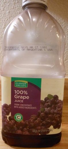 1/2 gallon of juice, 1/2 gallon water, 6 cups suger, and 1 gram wine yeast.    Makes a great light body wine.
