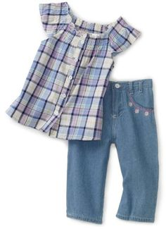 #Carters #Toddler Girls Denim Capri Set with #Bows   really love it!   http://amzn.to/HyJvOy