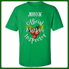 Johnnie Official Mistletoe Inspector Christmas - Adult Shirt 4xl Irish-green - Holiday and seasonal shirts (*Amazon Partner-Link)