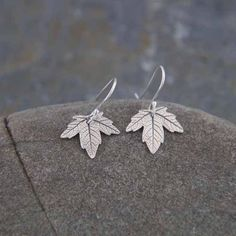 I made these cute little maple leaf earrings from silver clay which is the purest form of silver (99.99%), It is environmentally friendly as