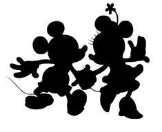 Mickey und Minnie Silhouette Decal von NerdVinyl auf Etsy