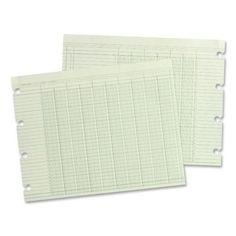 "acco/wilson jones ledger sheet, 16 col., dbl, 9-1/4""x11-7/8"", 100/pk, green"