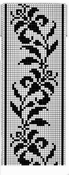 This Pin was discovered by cri Filet Crochet, Crochet Quilt, Tapestry Crochet, Crochet Chart, Thread Crochet, Beaded Cross Stitch, Simple Cross Stitch, Cross Stitch Borders, Cross Stitch Alphabet