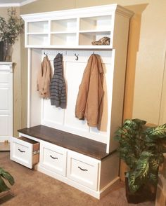 Entryway bench with shoe storage, coat rack and storage compartments/hall tree/mudroom bench/entryway furniture