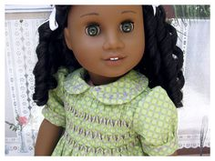 Hand Smocked American Girl Dress 18 Inch Doll by BonJeanCreations, $41.49