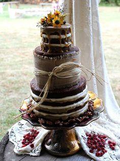 Naked Wedding Cake | Flickr - Photo Sharing!