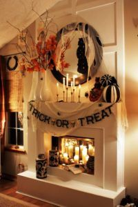 Halloween Mantle Fireplace Decorations