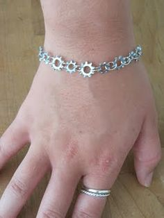 Washer Bracelet... could find these and spray paint them yellow to wear them to Calandra's Rapunzel party.