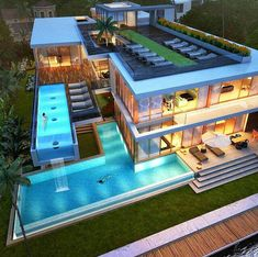 Mansions homes Dream house mansions Rich people lifestyle Mansions luxury Modern mansions House goals Dream Home Design, Modern House Design, Villa Design, Future House, Dream Mansion, Design Exterior, Luxury Homes Dream Houses, Dream Homes, Luxury Modern Homes