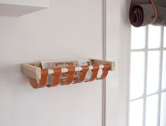 Thinking of making a mini command center on the wall space next to our fridge. Love this idea for a mail holder. Pretty and functional - plus easy to make!