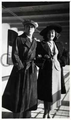 Charlie Chaplin with Paulette Goddard in San Francisco, 1936
