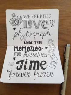 Ed Sheerans 'Photograph'. Ed Sheerans 'Photograph'. Calligraphy Quotes Doodles, Doodle Quotes, Calligraphy Drawing, Lyric Drawings, Drawing Quotes, Easy Drawings, Sketch Quotes, Bullet Journal Quotes, Bullet Journal Ideas Pages