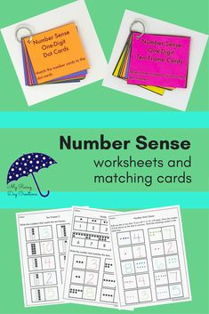 Are you introducing numbers to your students? Maybe you need an intervention for a student struggling with addition and subtraction. Either way, these number sense worksheets and matching cards will give your students the practice they need to learn the v 1st Grade Activities, Kindergarten Math Activities, 1st Grade Math, Second Grade, Number Value, Math Games For Kids, Teacher Worksheets, Matching Cards, Common Core Math