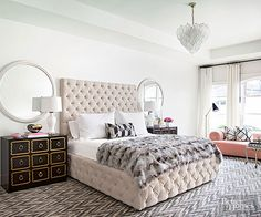 Glam girls look no further! This luxurious bedroom is just what you've been searching for.