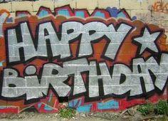 Graffiti alphabet letters happy birthday