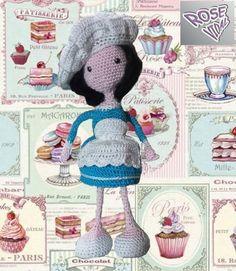 Crochet Amigurumi Free Patterns, Crochet Dolls, Crochet Food, Cute Dolls, Amigurumi Doll, Doll Toys, Smurfs, Teddy Bear, Disney Princess