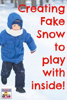 How to make fake snow #kidsactivity #preschool #STEM