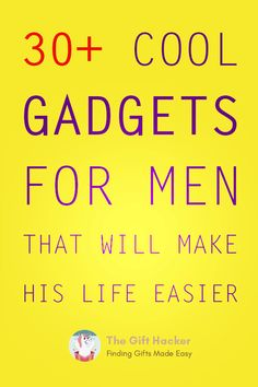 Boys will always love their toys… And that is why the vast majority of men just love to receive cool gadgets or tech gifts for any occasion. Let's quickly have a look at the top 31 cool gadgets for men in 2019 Tech Gifts For Men, Gifts For Teens, Gifts For Dad, Gadget Gifts For Men, Cool Gadgets For Men, Mens Gadgets, Awesome Gadgets, Man Birthday, Birthday Quotes
